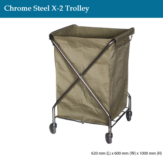 janitorial-chrome-steel-x-2-trolley