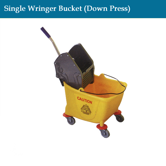janitorial-single-wringer-bucket(down-press)