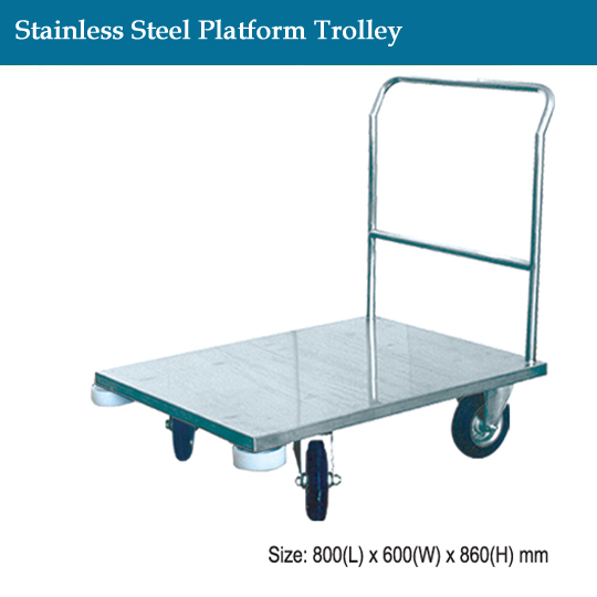 janitorial-stainless-steel-platform-trolley