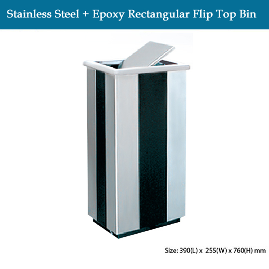 stainless-steel-stainless-steel-epoxy-rectangular-flip-top-bin