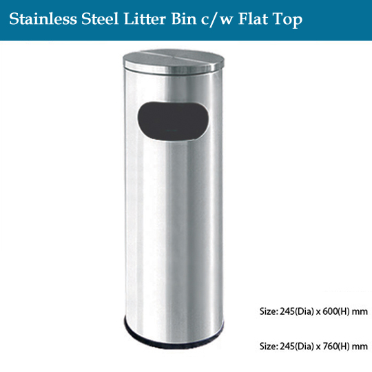 stainless-steel-stainless-steel-litter-bin-c-w-flat-top