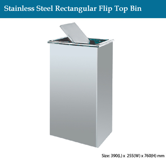 stainless-steel-stainless-steel-rectangular-flip-top-bin